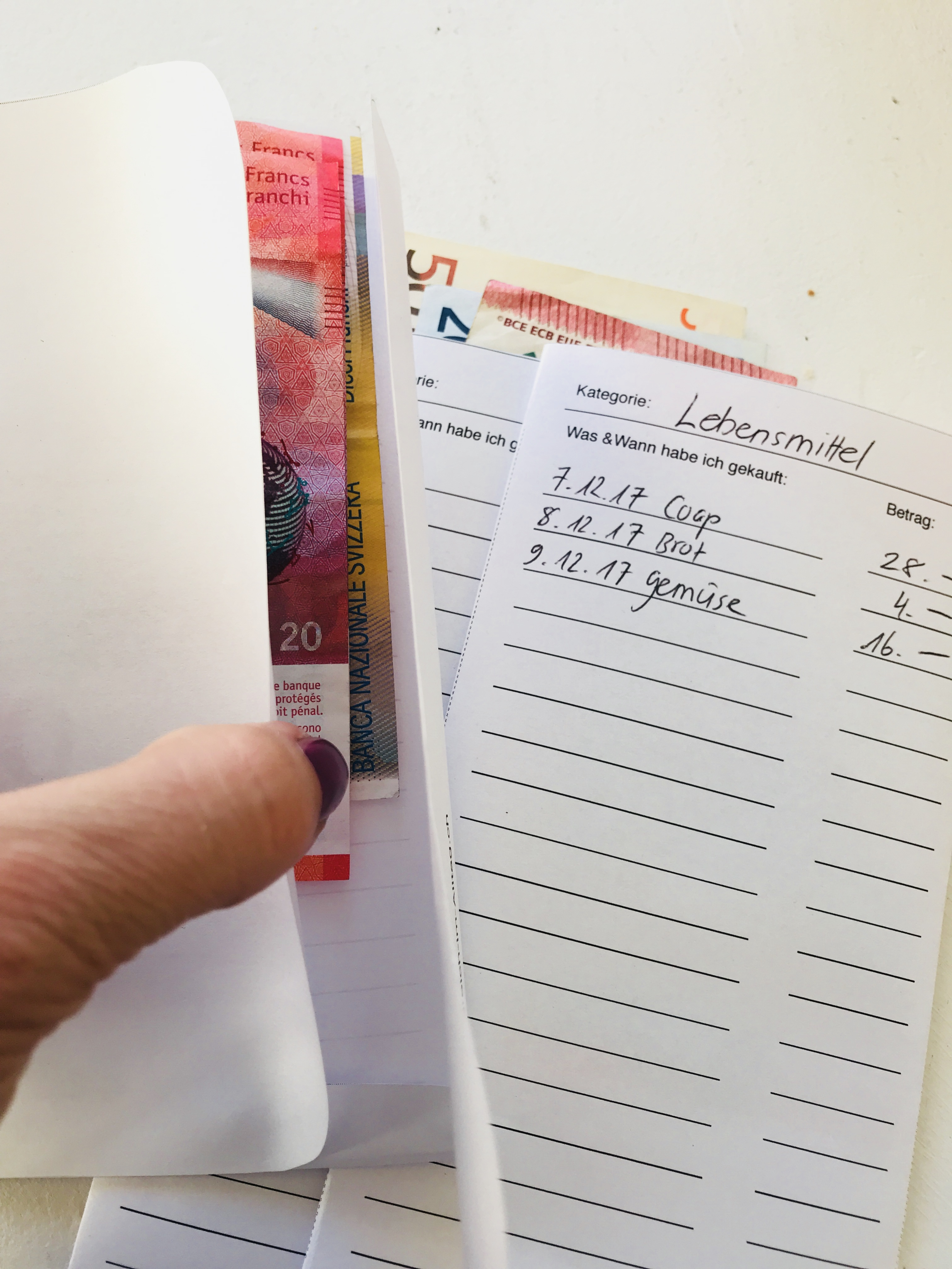 Budget Briefumschlag 1