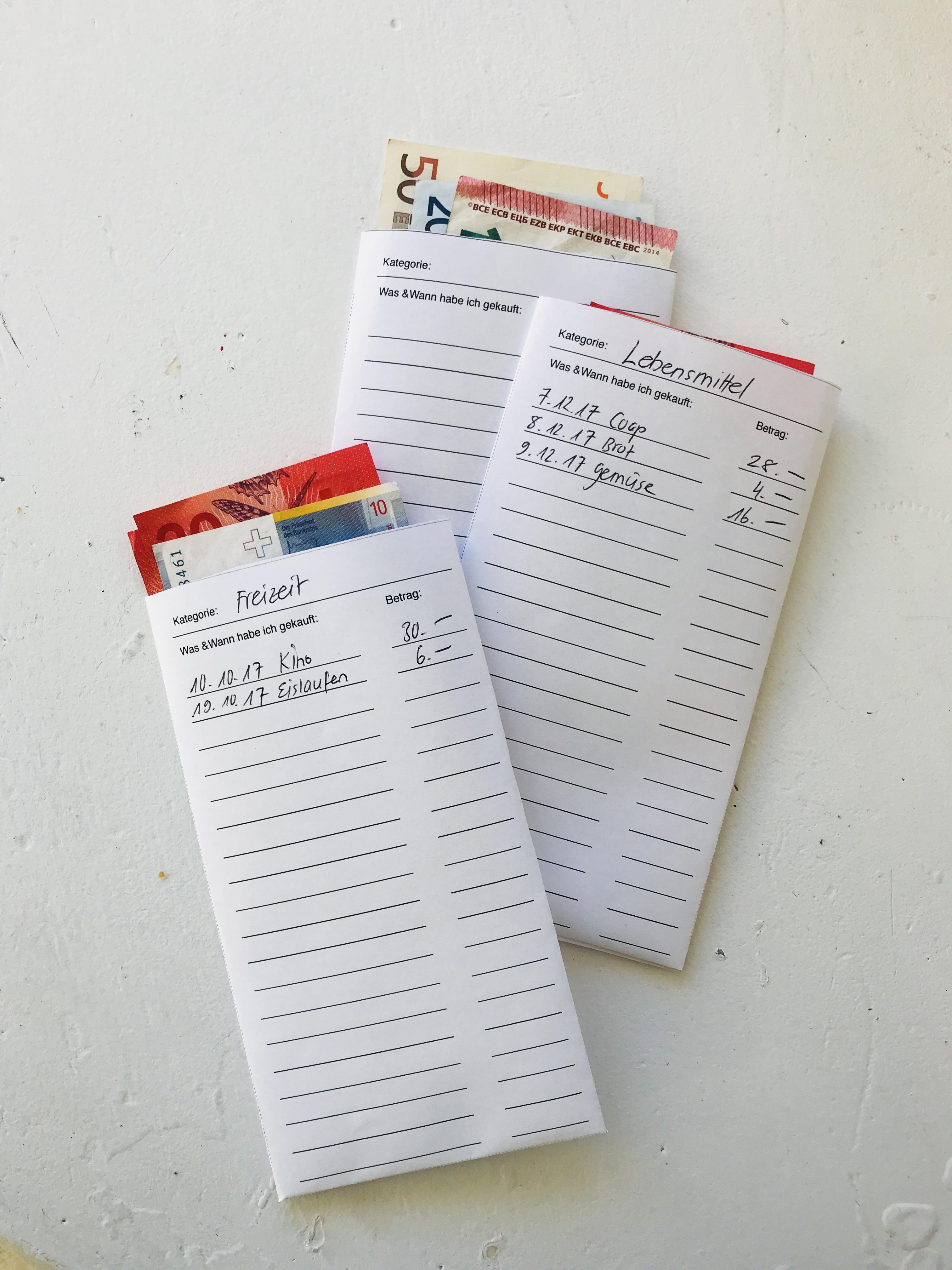 Budget Briefumschlag