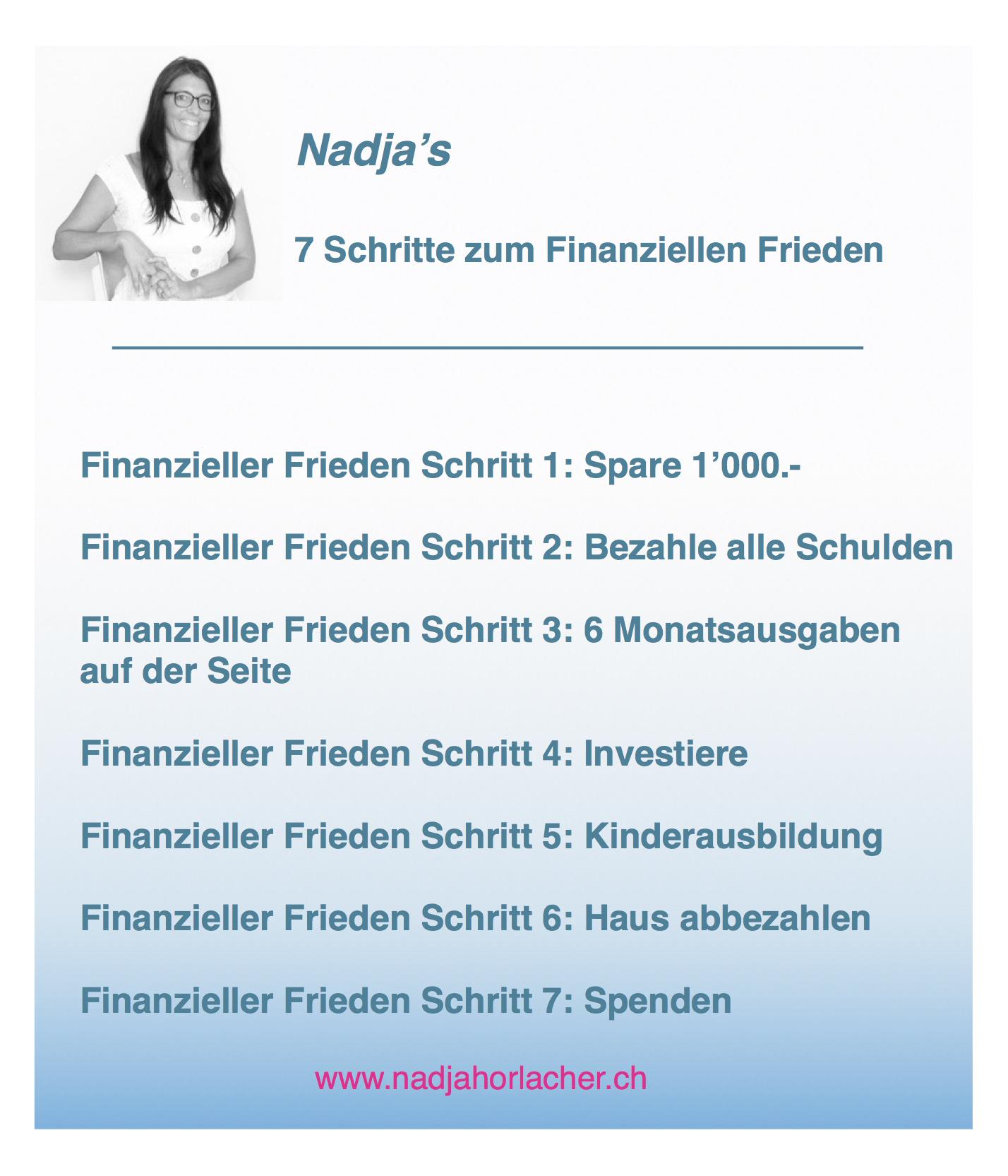Nadjas Plan - 7 Schritte für deinen finanziellen Frieden