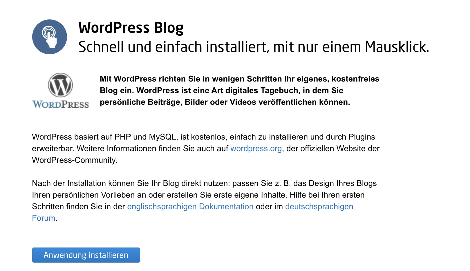 wordpress blog erstellen 4