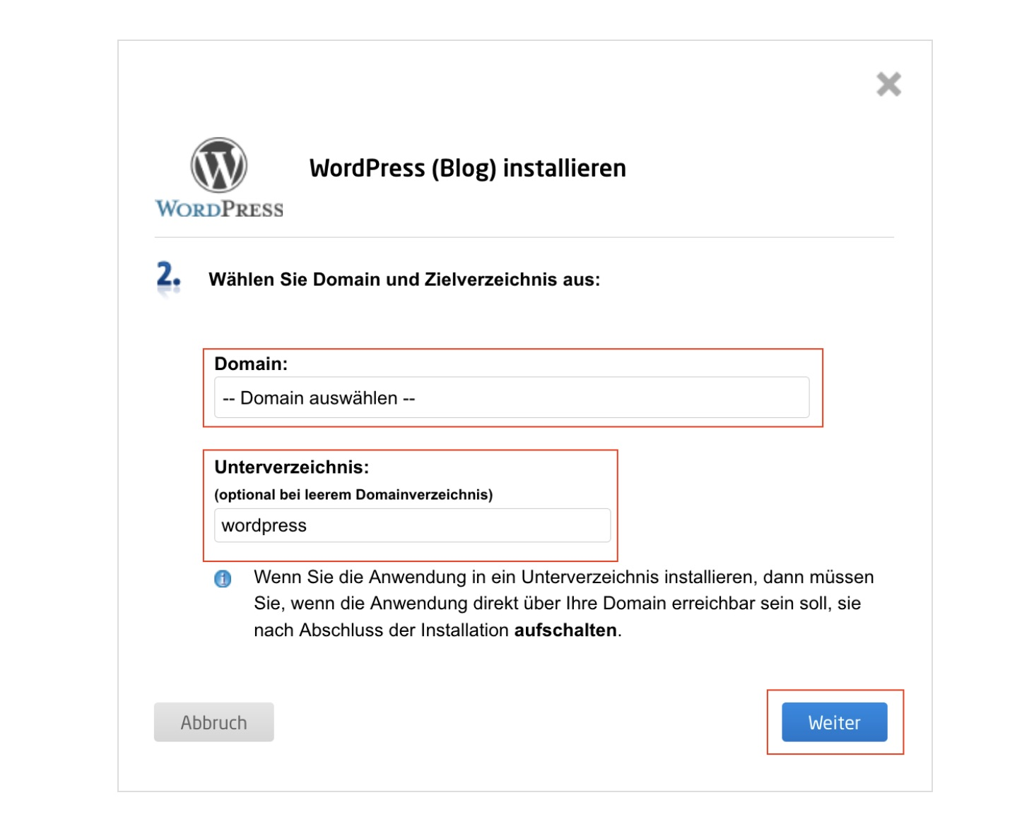 wordpress blog erstellen 6