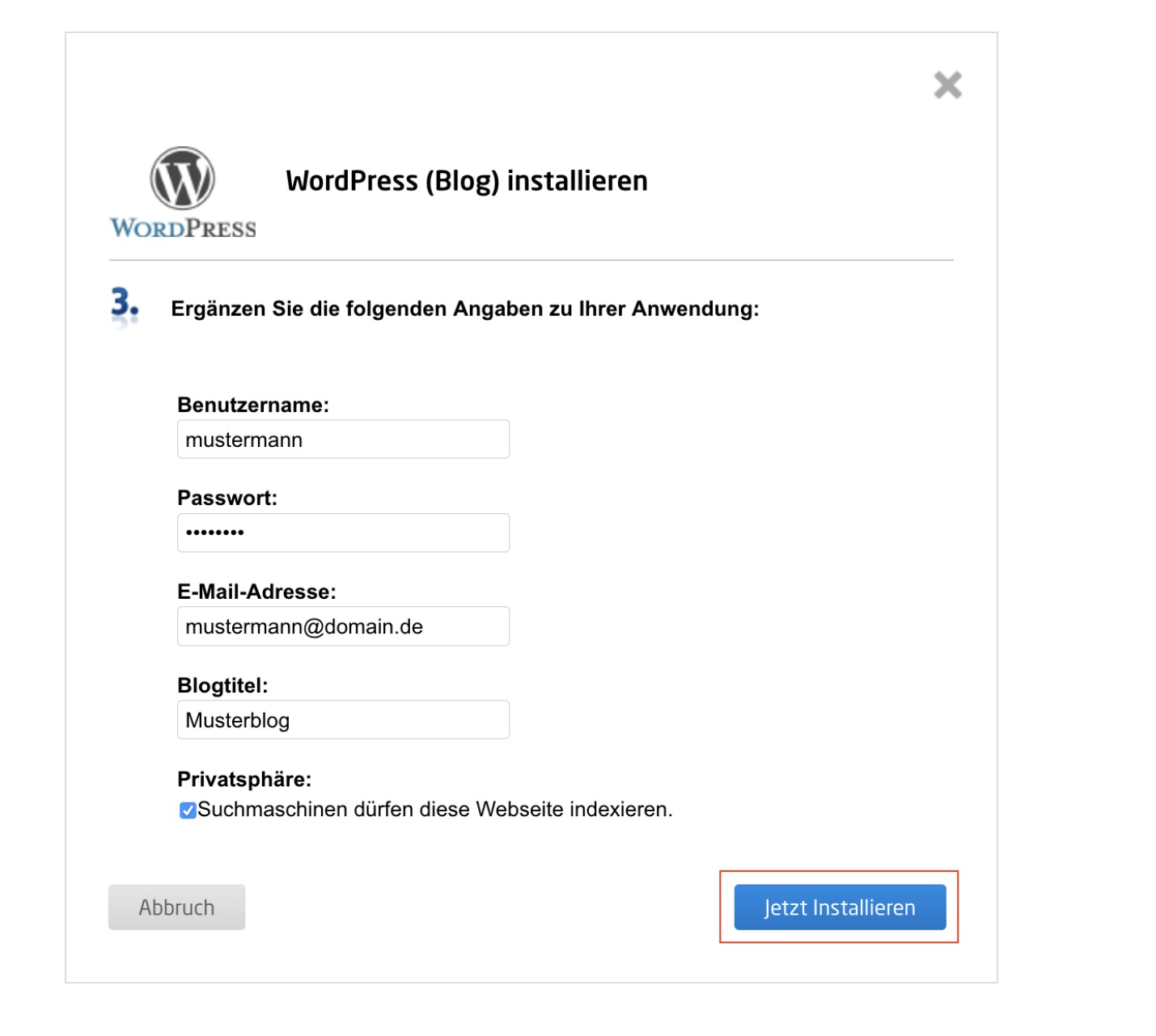 wordpress blog erstellen 7