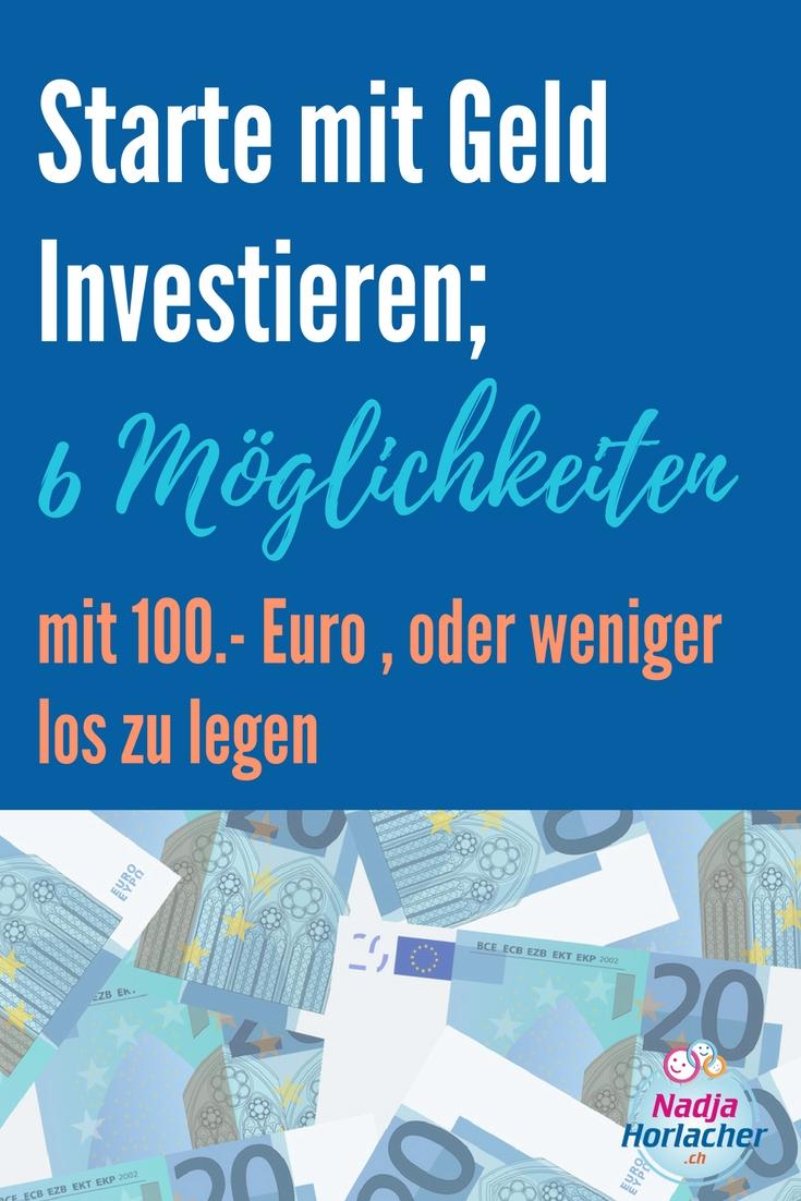 Starte mit Geld investieren