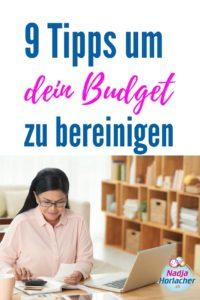 Budget bereinigen