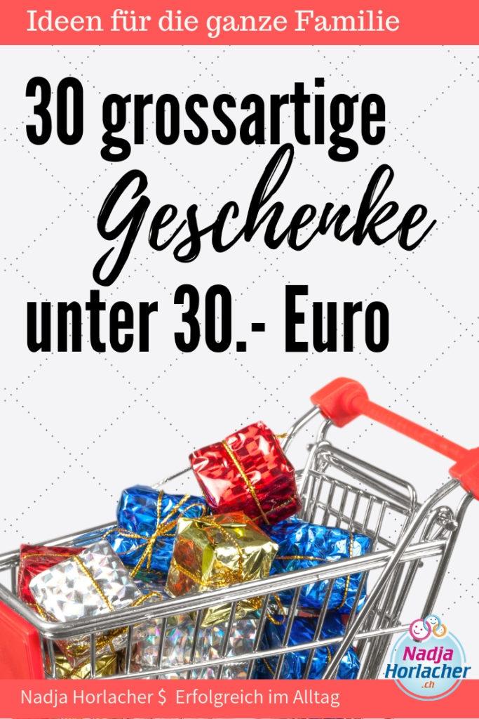 Passende Geschenke zu finden, ja das kann recht herausfordernd sein. Zudem möchte man auch sien Budget nicht aus den Augen verlieren.  Daher habe ich dir heir 30 Geschenke unter 30.- Euro rausgesucht. Schau es dir an, hoffe es ist was passendes dabei:-)  https://nadjahorlacher.ch/30-grossartige-geschenke-unter-30-euro/  #geschenke #geschenkidee #weihnachten #geburtstag #geschenk #unter30euro #günstig